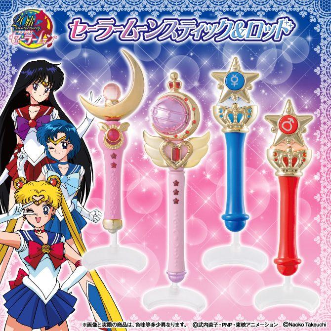Sailor Moon Wands Gashapon: Moon Stick & Transformation Wands for Sailor Mercury and Sailor Mars