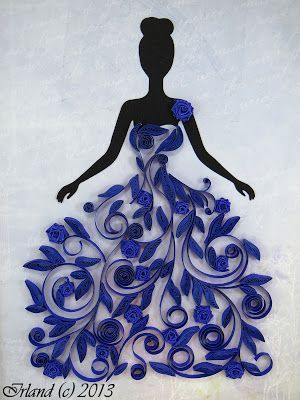 WOW this is a really great use for #Quilling and stunning #handmade design idea! #quiling