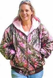 women's pink camo jackets | women s pink camouflaged hunting jacket reversible fleece jacket ...