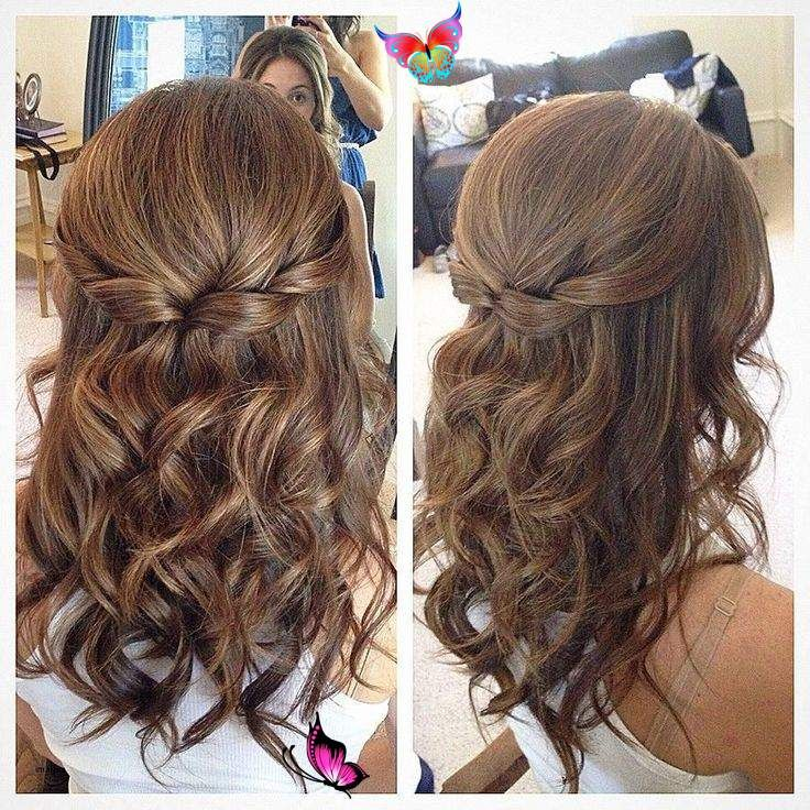 Wedding Hairstyles Half Up Half Down Short Hair Wedding Hairstyles Half Up Half Down S In 2020 Haarstijlen Voor Lang Haar Kapsels Voor Lang Haar Bruidskapsel Lang Haar