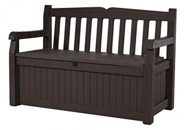 Storage Garden Bench 70 Gallon Outdoor All Weather Brown Patio Deck Box Seat New Keter Patio Storage Outdoor