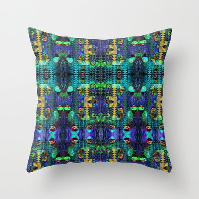 Peacock Throw Pillow by Nahal - $20.00