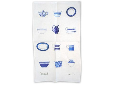 Rodriquez - Jam Tales Blue Crockery Tea Towel