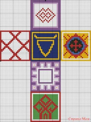 Схемы вышивки оберегов. / Вышивка / Схемы вышивки крестом