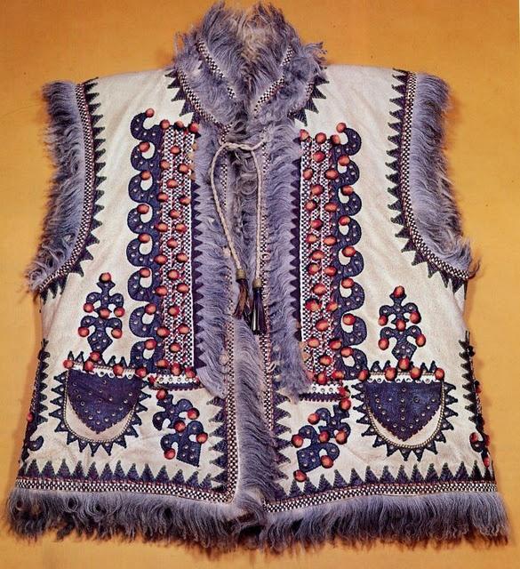 Keptar - Ukrainian sheepskin vest  For more ethnic style and tribal fashion visit: http://www.wandering-threads.com/