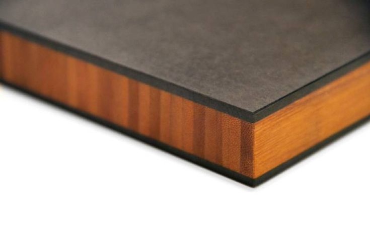 Stratum countertops: bamboo sandwiched between Richlite. Durable, beautiful and sustainable.