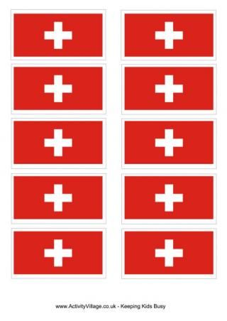 Switzerland Flag Printable