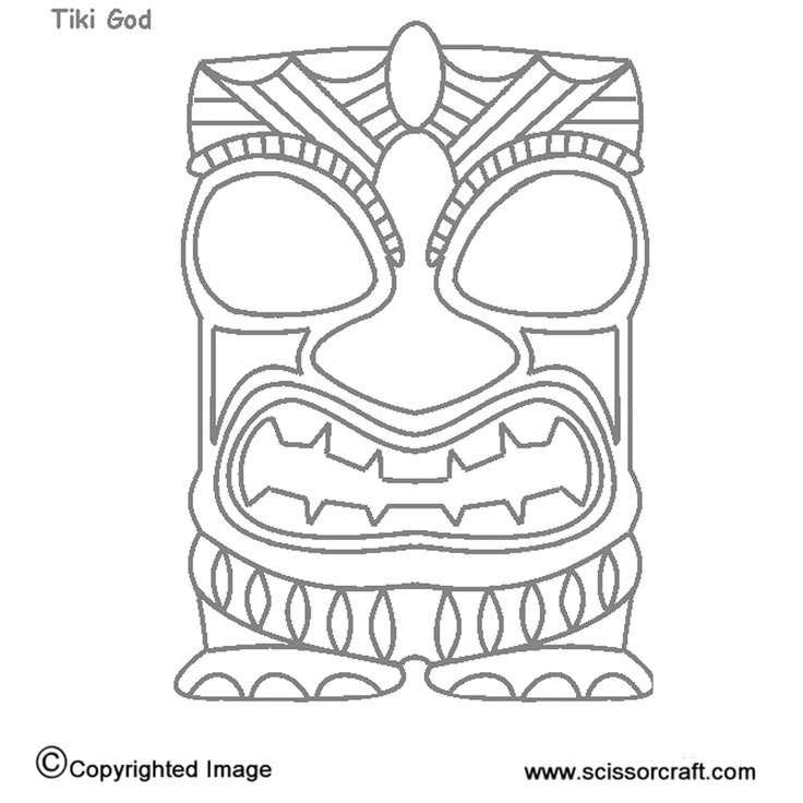 Persnickety image with tiki mask printable