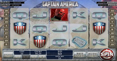 As far as #Marvel heroes go, Capt. America still stands as one of the great superheroes of our time.  The #CaptainAmericaSlot is here and fully available to play in demo.  Software: #playtech Theme: #marvel Paylines: 20 Reels: 5 Mobile bonus: Yes