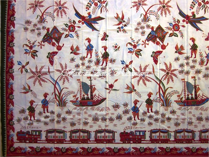 """""""Batik Belanda"""" or Dutch Batik style by pak Katura, Cirebon. A fine and meticulous double sided hand drawn batik, presented on a """"bangbironjo"""" touch. Love this so much."""