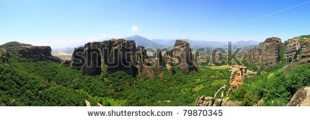 An ancient monastery in meteora, Greece