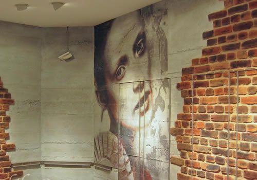 Dekorative Wandgestaltung - Beton und Ziegelwand Optik
