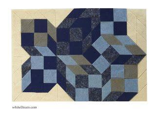Mit lehet kihozni a kék alapkockákból? kék kockák, filc opart kép, filc mozaik / What can you design the basic blue cubes? Blue cubes felt-opart, felt mosaic
