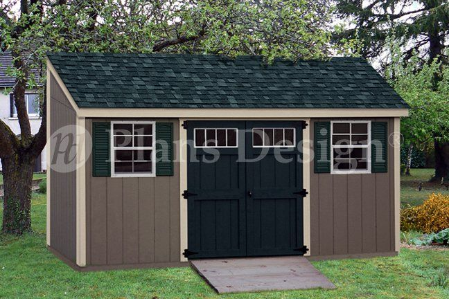 6 Ft X 16 Ft Storage Building Deluxe Lean To Shed Plans Design D06016l Shed Plans Diy Shed Plans Building A Shed