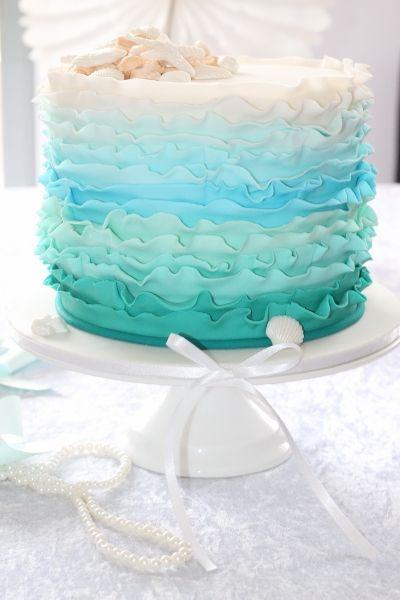 青オンブルラッフルズケーキ
