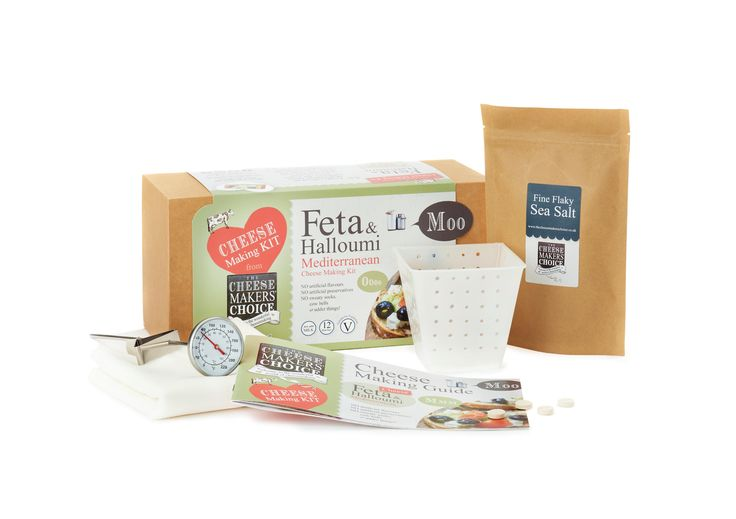 Mediterranean Cheese Making Kit. Make your own feta & halloumi - yum!