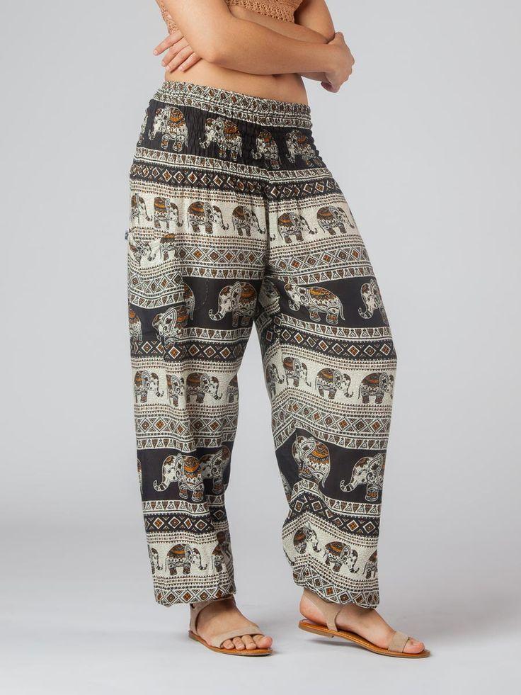 Saza Black Harem Pants