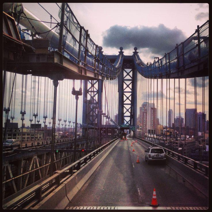 Driving on Manhattan bridge, New York - wanna go back there.