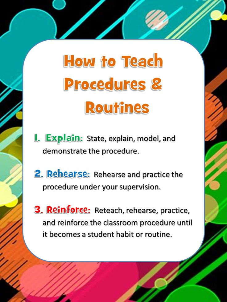 How to teach procedures and Routines