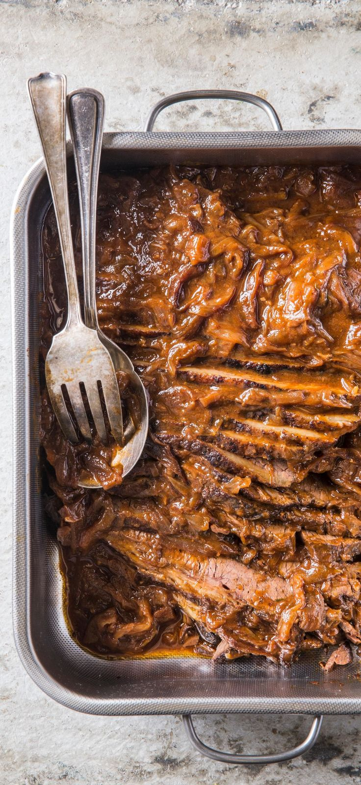 Make Ahead Onion-Braised Beef Brisket. Prepping this beef brisket ahead of time ensures a rich, flavorful meal, perfect for a midweek supper or Rosh Hashanah.