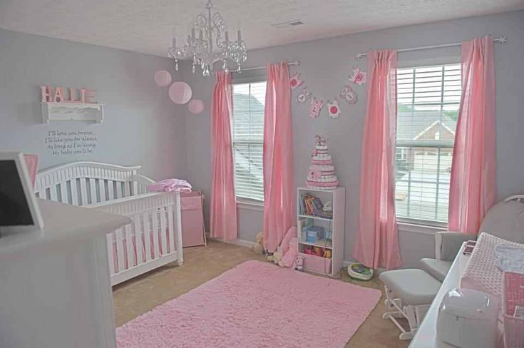 grey and pink nursery omg i loveee it this is the