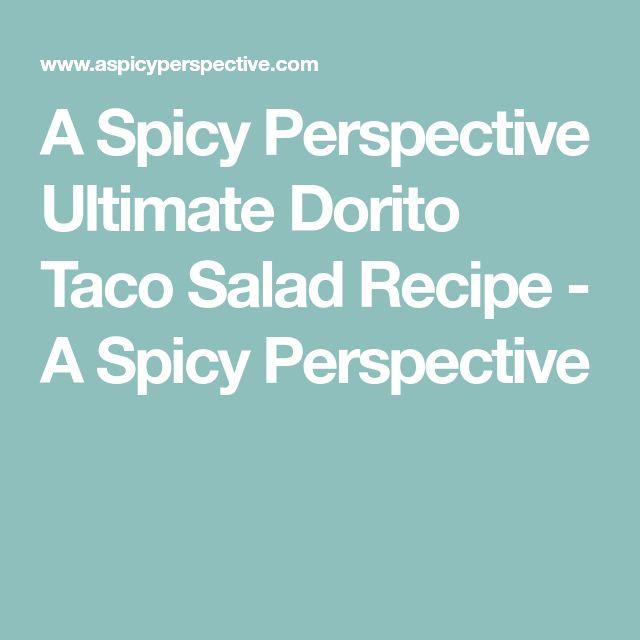 A Spicy Perspective Ultimate Dorito Taco Salad Recipe - A Spicy Perspective