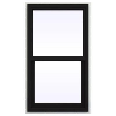 JELD-WEN 23.5 in. x 35.5 in. V-4500 Series Single Hung Vinyl Window - Black - THDJW143900143 - The Home Depot