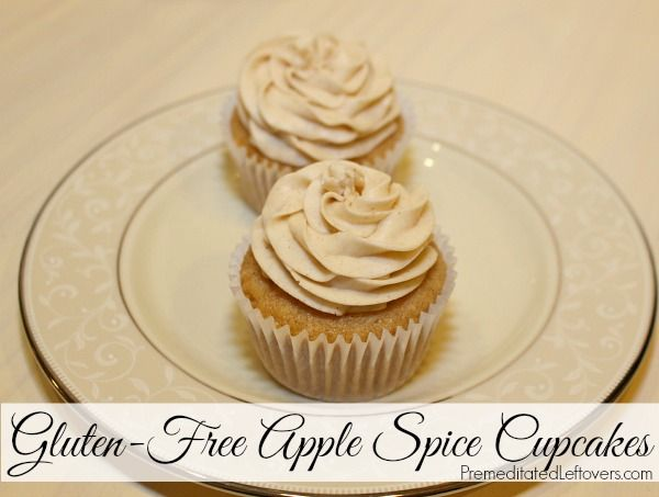 Gluten-Free Apple Spice Cupcakes with Cinnamon Frosting