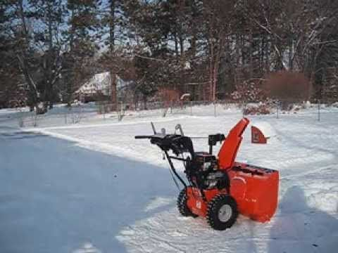 New Ariens Deluxe 28 Snow Blower With Auto Turn Review Model 921030 - YouTube