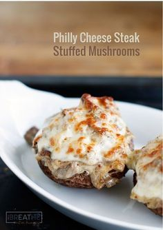 Philly cheese steak stuffed mushrooms! The whole family will love this super easy recipe that is loaded with beef, onion, and cheese! Gluten free, low carb, and keto friendly!