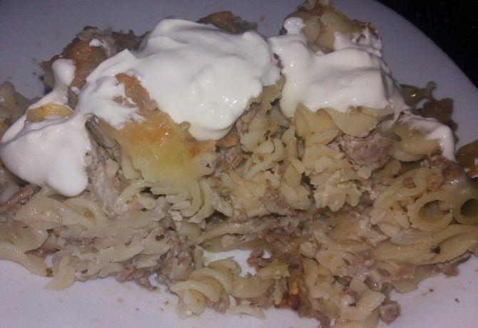 Húsos tészta sütőben