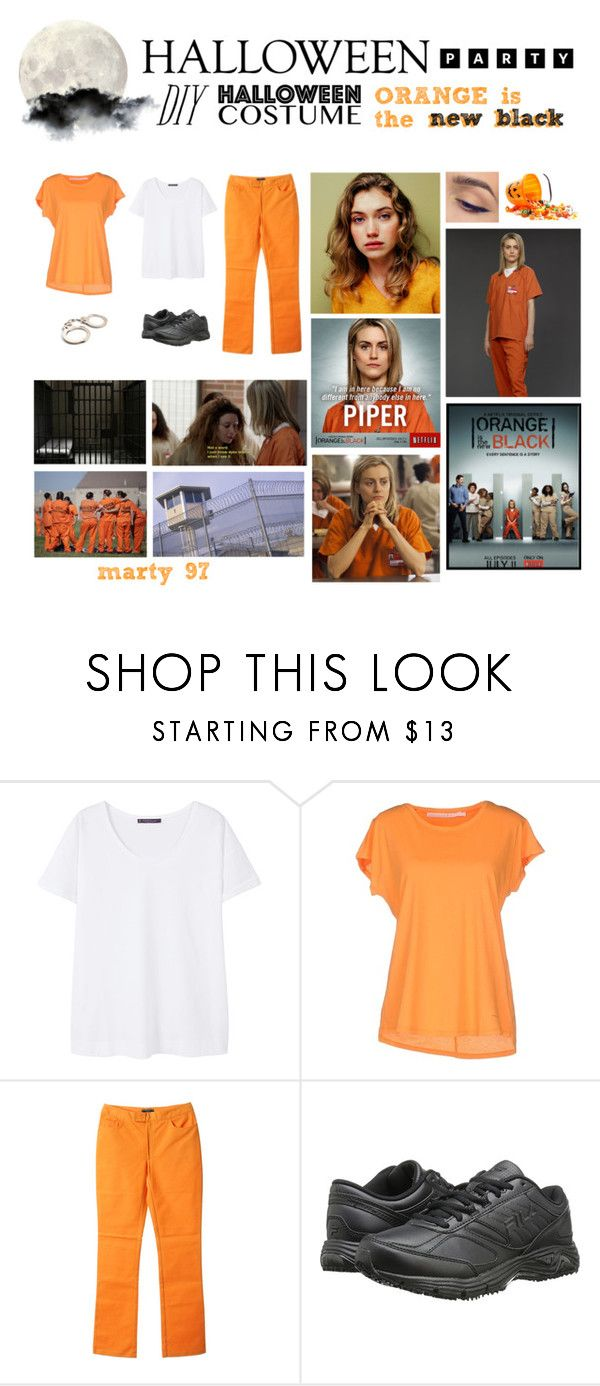 Halloween Party: Orange is the New Black by marty-97 on Polyvore featuring moda, Violeta by Mango, Schumacher, Joseph and Fila