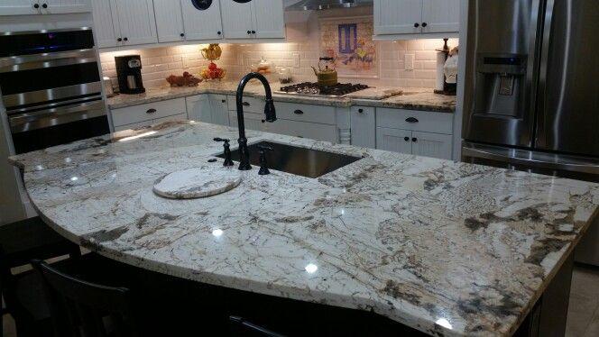Two Tone Country Kitchen Alpine White Granite My