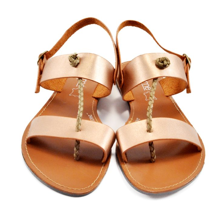 Champagne Sandal NIKKIE ME, so fashionable <3 Find it on www.slipperland.gr