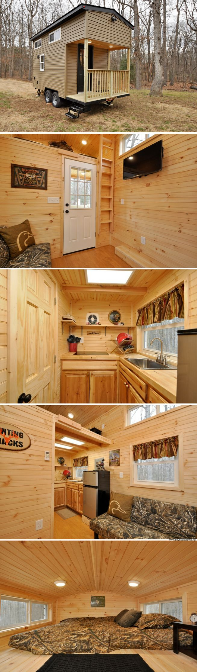 The Woodland: a 200 sq ft cabin from Tiny House Building Company