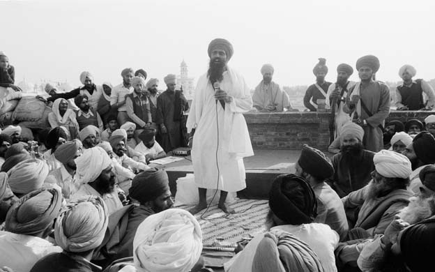 1984: Religious leader Jarnail Singh Bhinderanwale called on Sikhs to press for self-rule. This ended tragically in the attack on the Golden Temple by the Indian army and the slaughter of thousands of Sikhs who took refuge inside the sacred monument Kapoor Baldev/Corbis