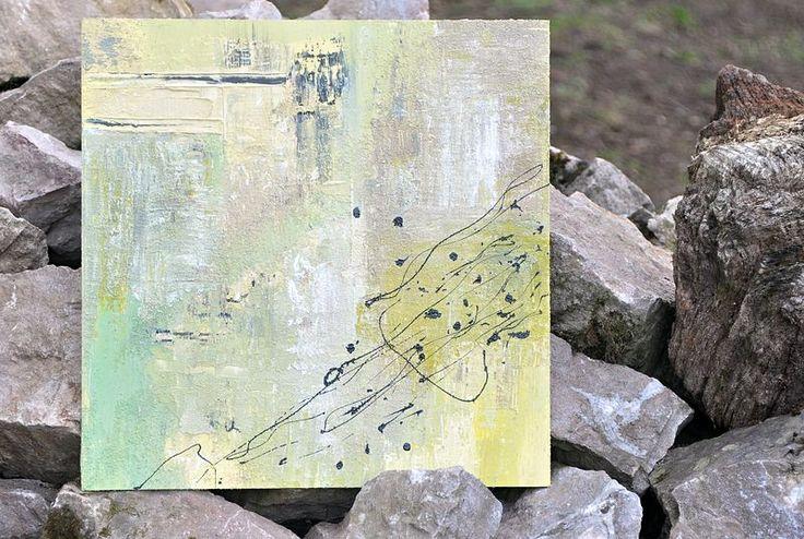 Nesourodé splynutí  1/2016  akryl, kombinovaná technika  50×50 cm, plátno na sololitu