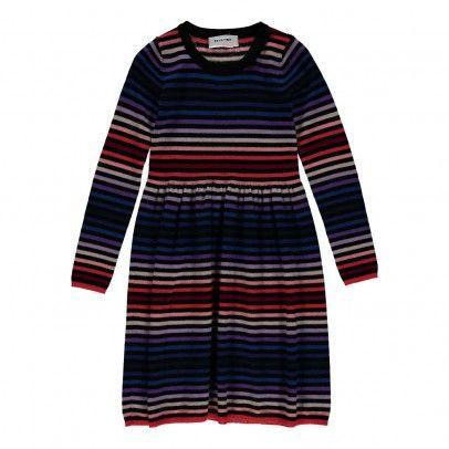 Robe Maille Rayée Multicolore