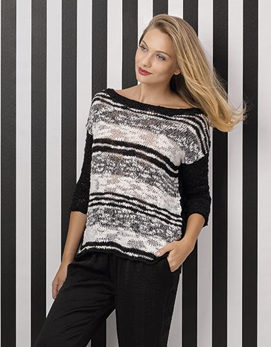 Book Woman Chic 93 Spring / Summer | 12: Woman Sweater | Black / Off-white / White