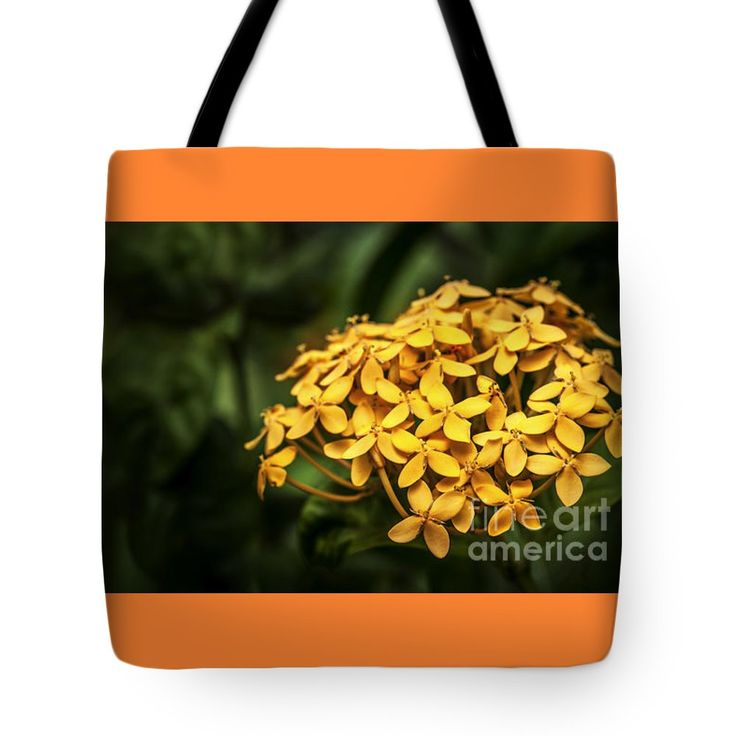 "Ashoka Flowers - Yellow Variety Tote Bag 18"" x 18"""