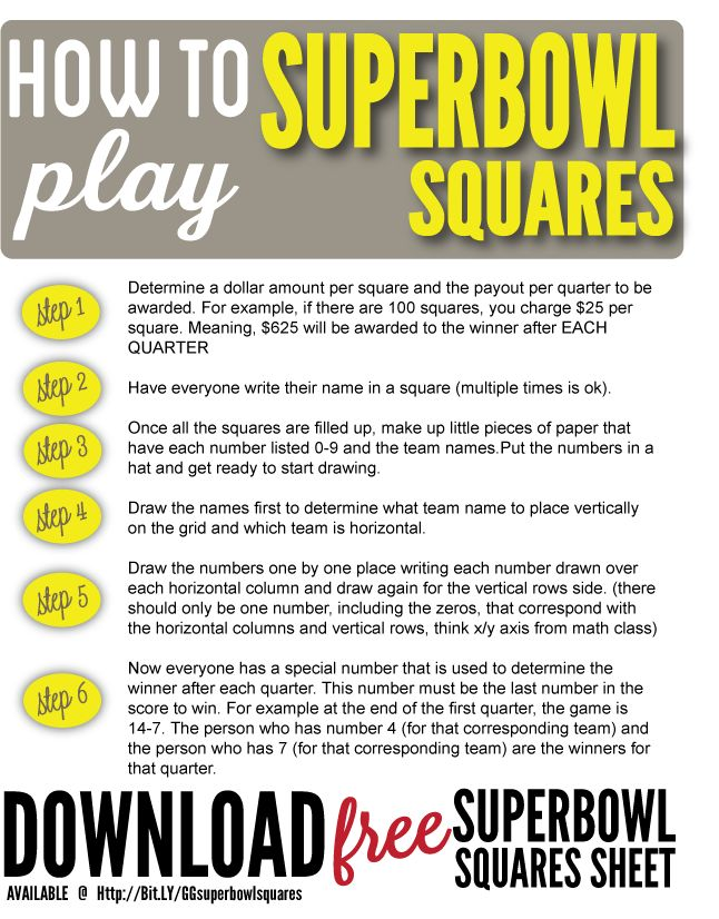 9 best FOOTBALL SQUARES images on Pinterest Squares, Super bowl - football pool template