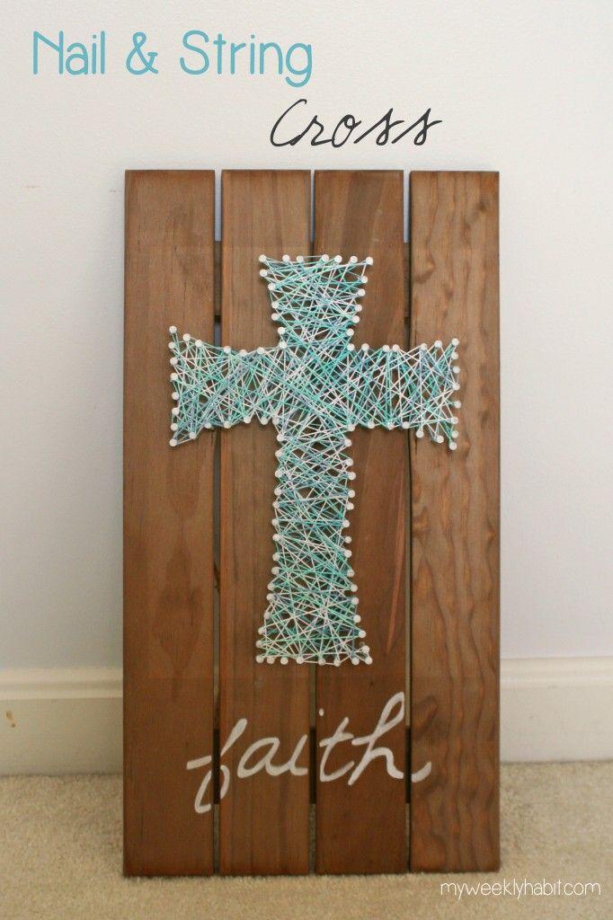 Nail and String Cross - DIY- Tutorial