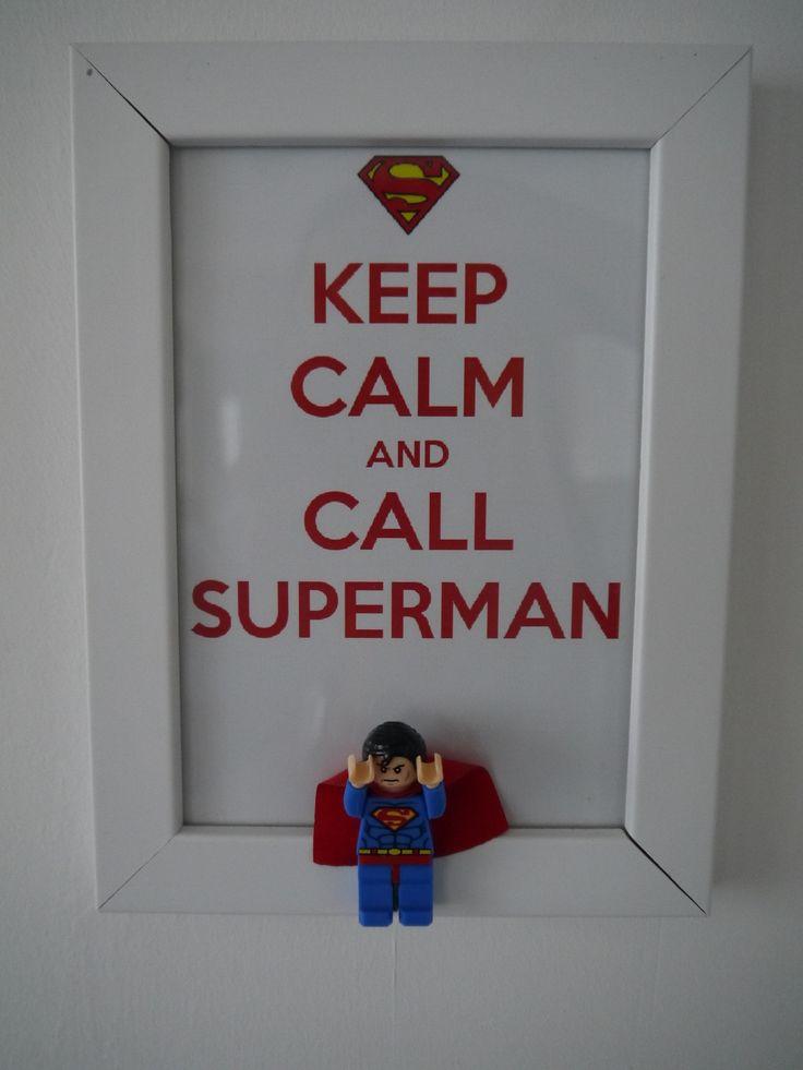 Cadre déco original Superman