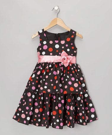 Take a look at this Black & Pink Polka Dot Dress - Infant, Toddler & Girls by Kid Fashion on #zulily today!