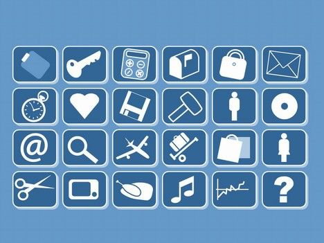 We have a range of 94 small clip art icons to use in your presentations.    They are all PowerPoint vector based shapes which mean that you can change the colours as well as scale them up in size.