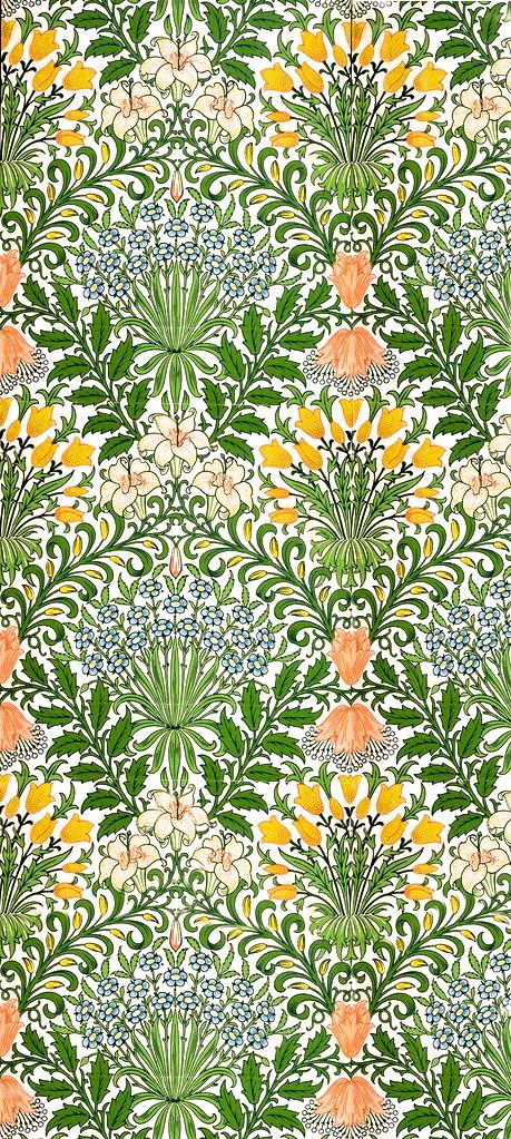 Fabulous William Morris wallpaper.
