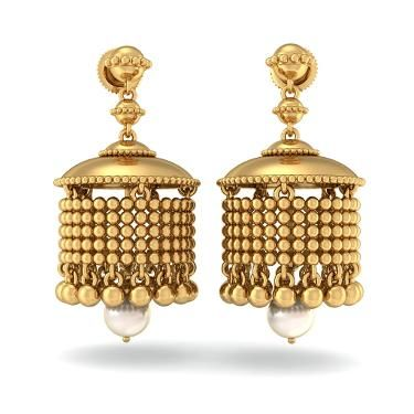 The Imperial Naaz Jhumka. Shop for your wedding jewellery with Bridelan - a personal shopper & stylist for weddings, also a resource for finding rare jewels of India. Website www.bridelan.com #Bridelan #southindianjewellery