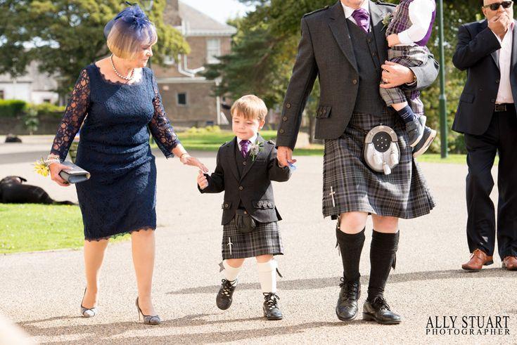 wedding guests dundee boy in kilt