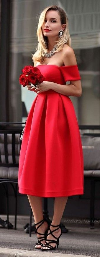 17 best ideas about formal midi dress on pinterest midi for Red midi dress wedding guest