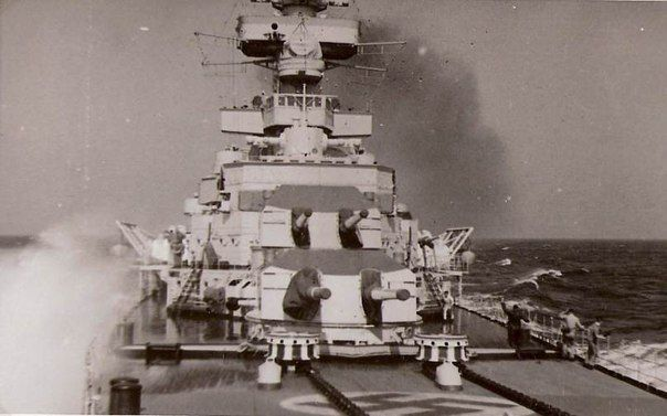 """""""Prinz Eugen"""". View of the tower of the main gun! (Heavy Cruiser)"""